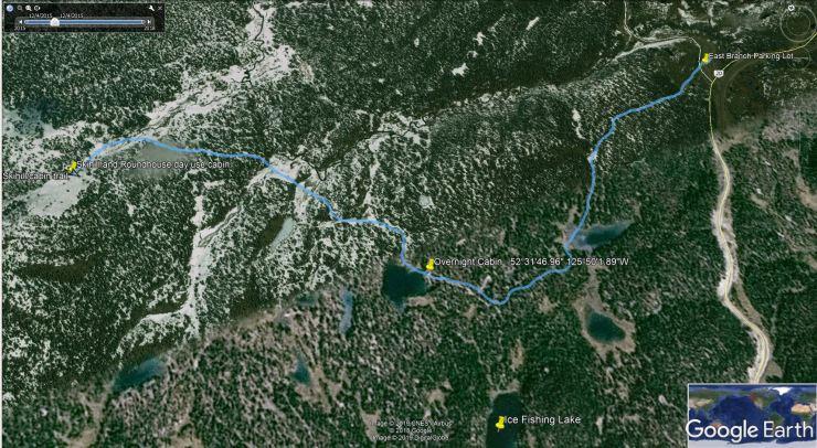ski hill map
